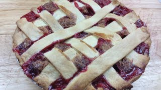 Strawberry Rhubarb & Custard Pie - Video Recipe