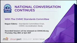 CMMC-AB Standards with Regan Edens - National Conversation