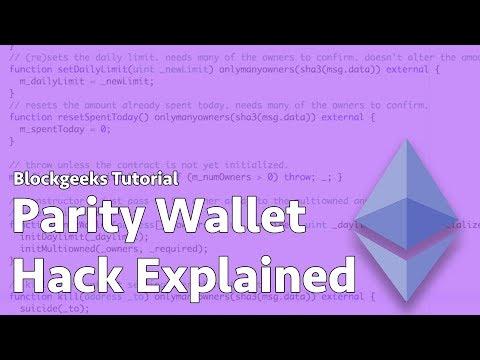 Parity Wallet Hack Explained