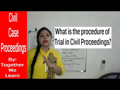 Civil Suit Proceedings || Procedure for Trial before Civil Court || Civil Procedure Code 1908 ||