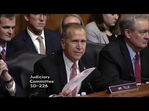 Day 4: Tillis Questions Judge Kavanaugh at Supreme Court Confirmation Hearings