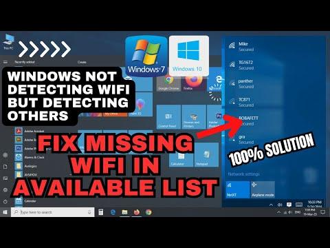 Wifi network not showing windows 10