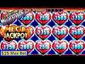 HUGE Jackpot  Handpay on High Limit Lock It Link Slot Machine | $25 Max Bet Live Slot Play | Jackpot