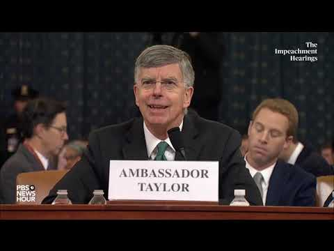 PBS NewsHour: WATCH: 'Unusual' but not outlandish for EU Amb. Sondland to be involved in Ukraine, Taylor testifies