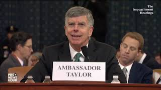 WATCH: 'Unusual' but not outlandish for EU Amb. Sondland to be involved in Ukraine, Taylor testifies