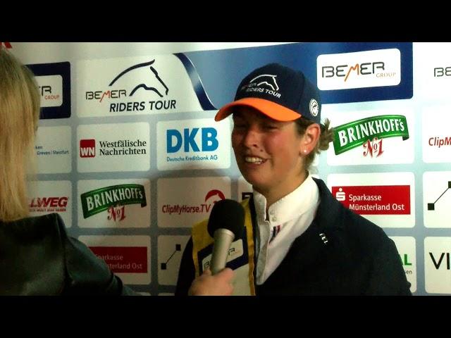 Siegerinterview Charlotte Bettendorf - Münster 2019