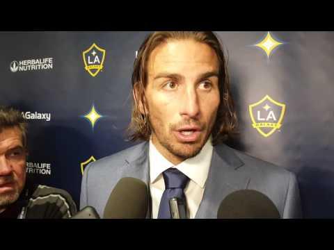 Alan Gordon LA Galaxy post game locker room 10/30/2016