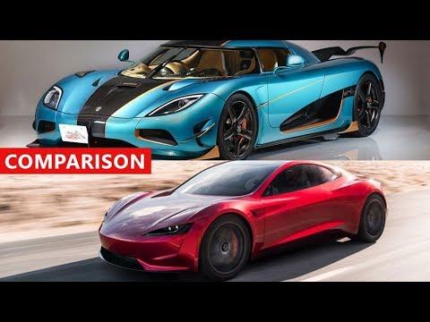 Tesla Roadster Vs Koenigsegg Agera Rs Comparison Fastest