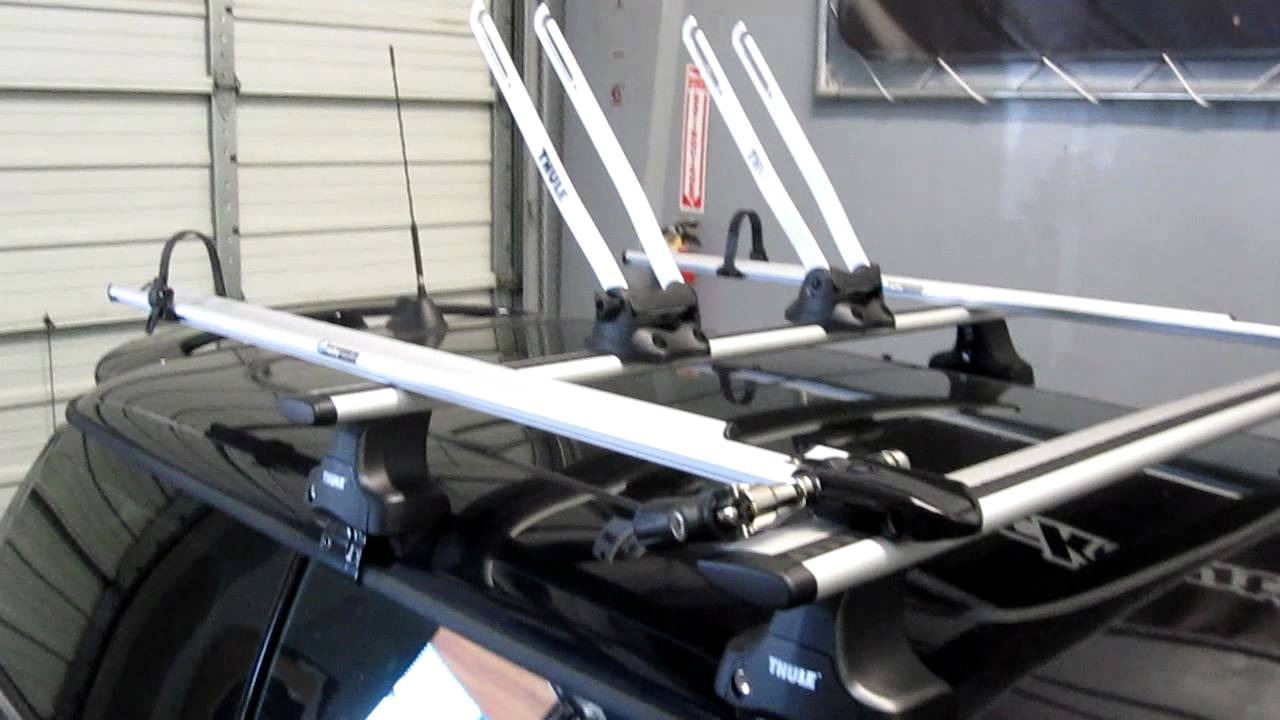 Mini Cooper With Complete Thule Roof Rack System For Two Bikes By Rack  Outfitters   YouTube