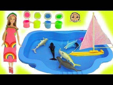 Dollar Tree Water Boat, Easy DIY Sock Barbie Doll Rainbow Dress , Glow In The Dark Craft