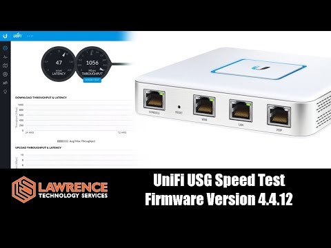 UniFi Security Gateway / USG Speed Test with Firmware Version 4 4 12