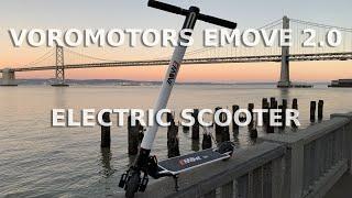 voromotors emove 20 portable electric scooter