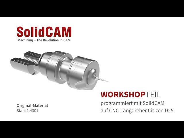 SolidCAM - Fertigung eines Workshop-Demoteils