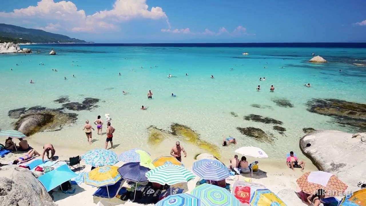 Famous Orange beach near Sarti on Sithonia Greece YouTube