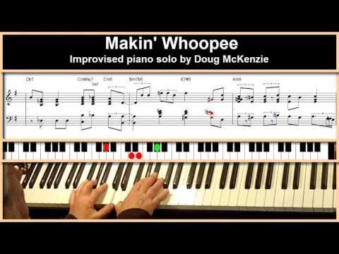 Makin' Whoopee - Jazz piano tutorial