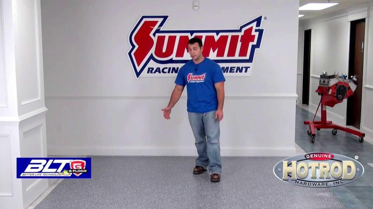 G Floor Garage Vinyl Floor Install   Summit Racing Equipment   YouTube