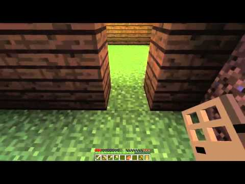Minecraft ilk Gün Hayatta Kalma Ve Eşya Yapımı (Survival And Furniture Making the first day)