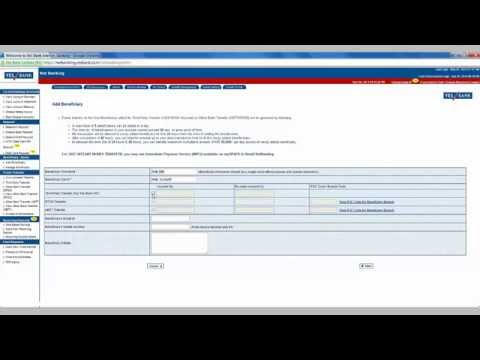 IN- How to add beneficiary to Yes bank