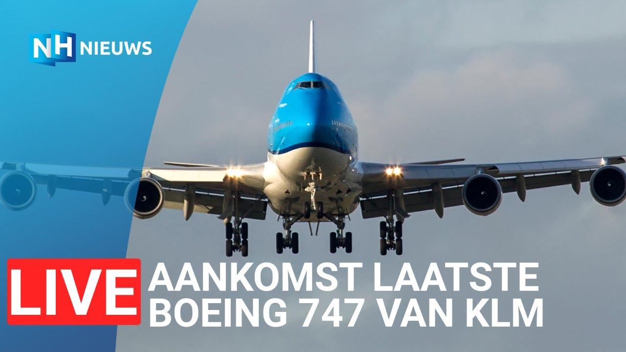 Laatste landing van een KLM 747 op Schiphol