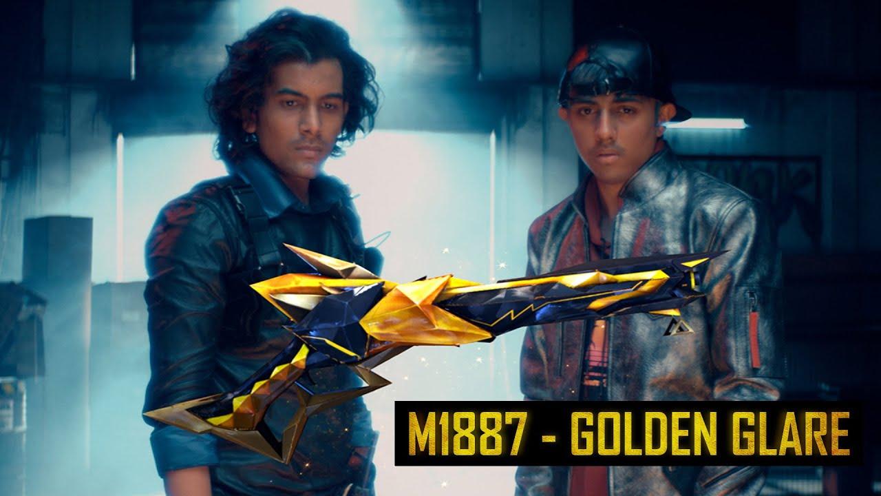 M1887 - Golden Glare ft. TSG Mann, TSG Abhee   Garena Free Fire