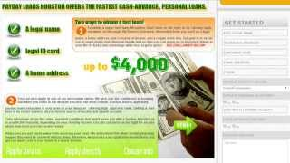 Payday Loans Houston: Receive up to a $3,000 cash advance personal loan FAST