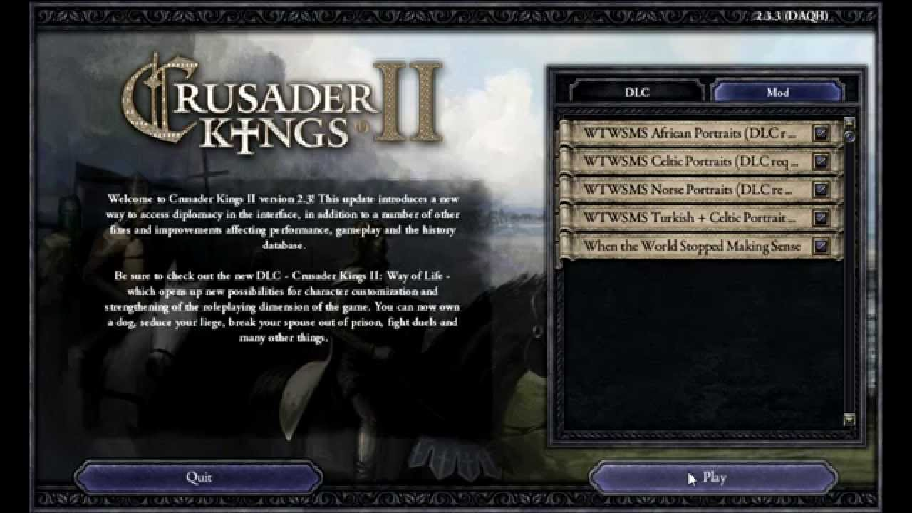 How to Install Mods for Crusader Kings 2 (Specifically WtWSMS)