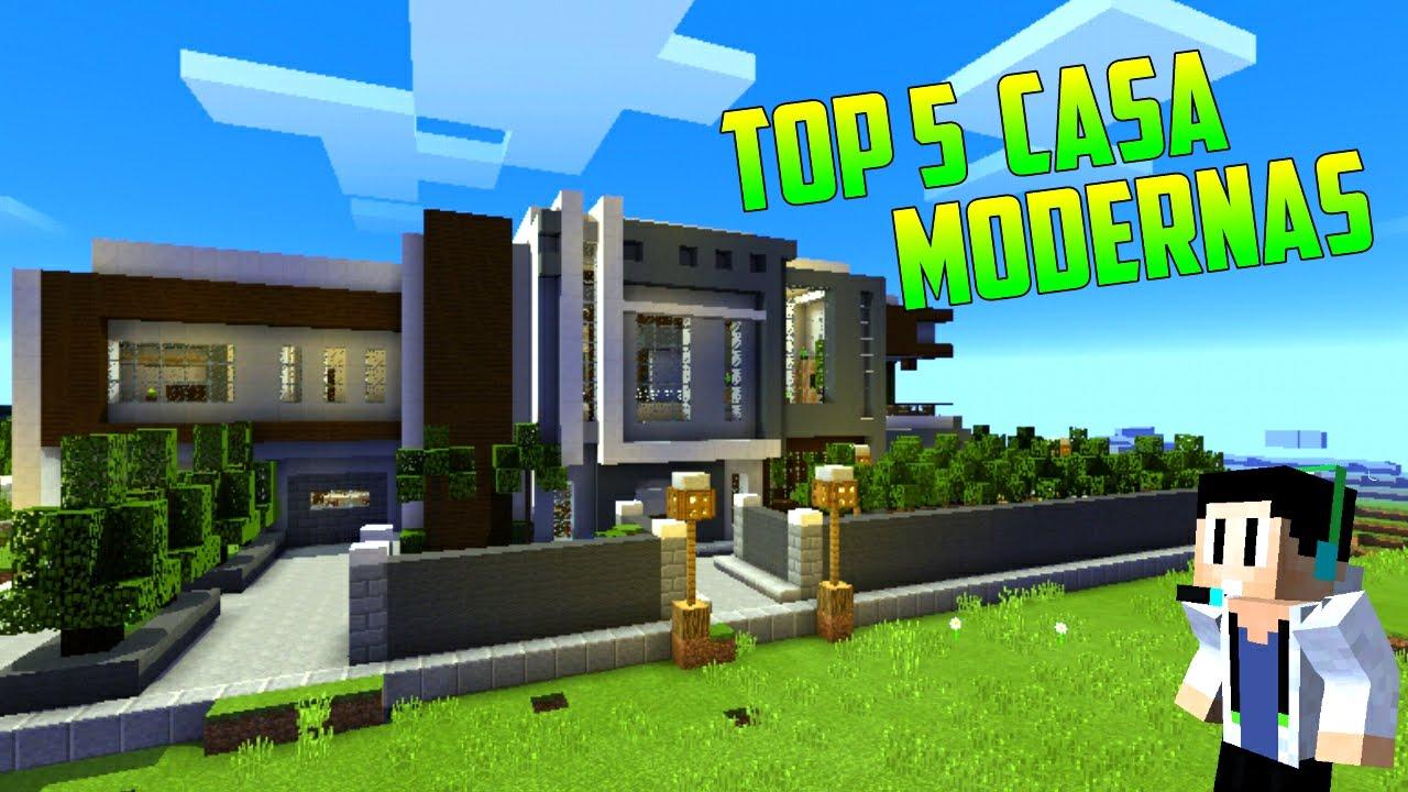Top 5 mejores casas modernas con aldeas minecraft pe for Casas modernas minecraft 0 10 0