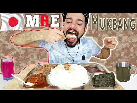 Japanese Rations Mukbang - JSDF MREs Review or Eating Show [ENG SUB]