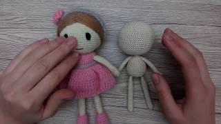 Как связать куклу крючком для начинающих Лалалупси, часть 1