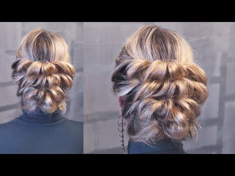 Hairstyle for medium hair - Вечерняя причёска на резинках - Hairstyles by REM