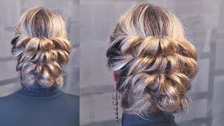 Вечерняя причёска на резинках (два оборота)(, 2015-04-29T15:13:26.000Z)