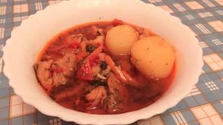 Супер вкусный СУП (из свинины). Сытный суп. Простой рецепт вкусного супа.