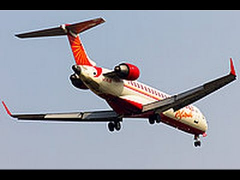 Air India CRJ700 Landing over Surat City Gujarat