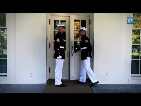 Marine Sentries - Inside the White House