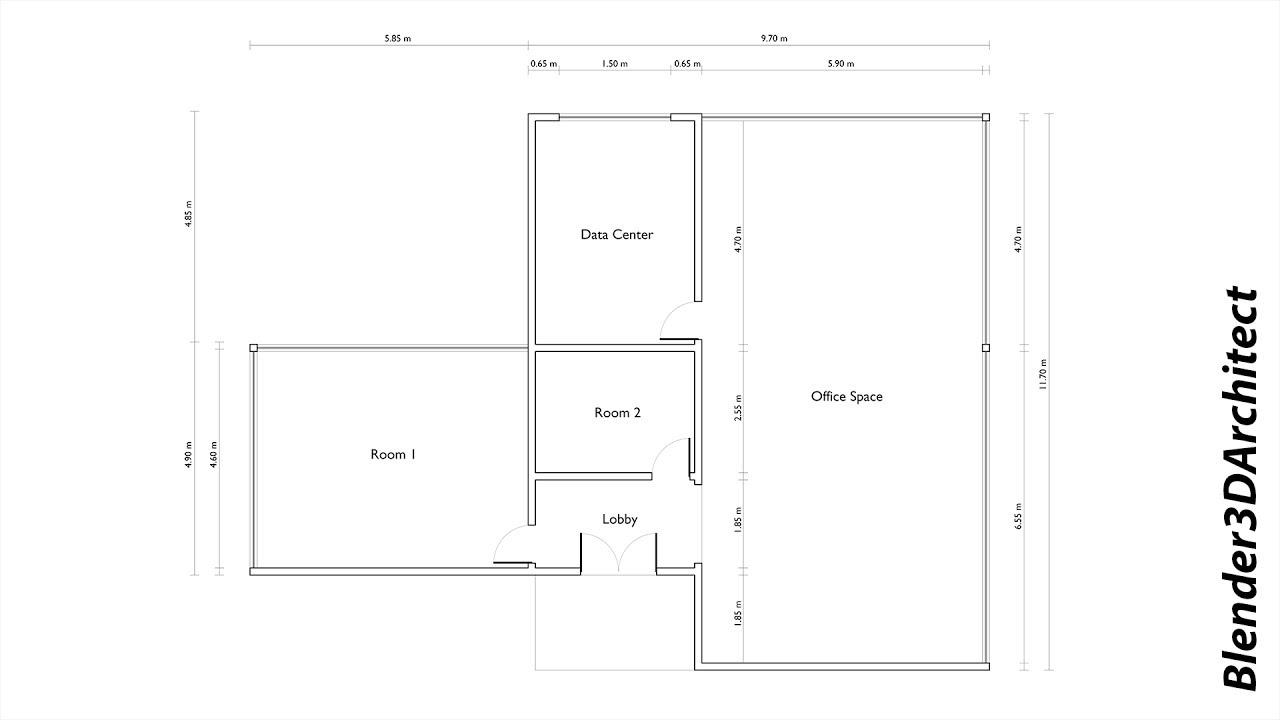Sketching A Floor Plan In Blender Blender 3d Architect
