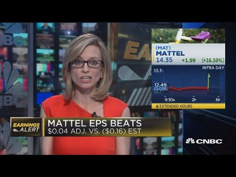 Mattel shares pop after strong earnings report