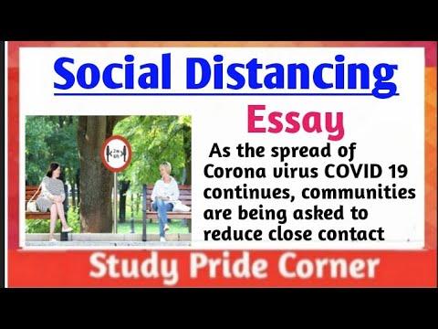 Download Essay on Social Distancing in English || StudyPrideCorner