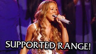 mariah carey supported vocal range live