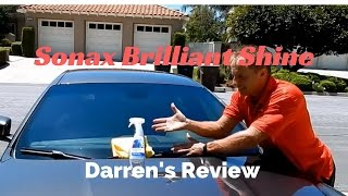 Sonax Brilliant Shine Detailer: Darren's professional review