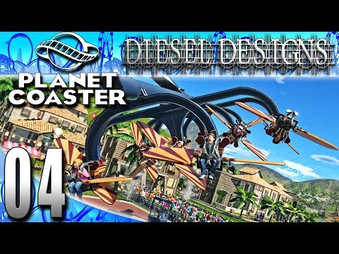 Planet Coaster Beta :EP4: Flight Over the Caribbean! (PC Let's Play Career ModeHD)