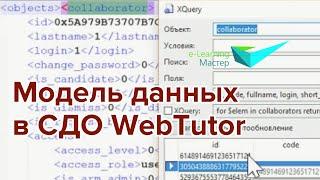 Модель данных в системе дистанционного обучения WebTutor