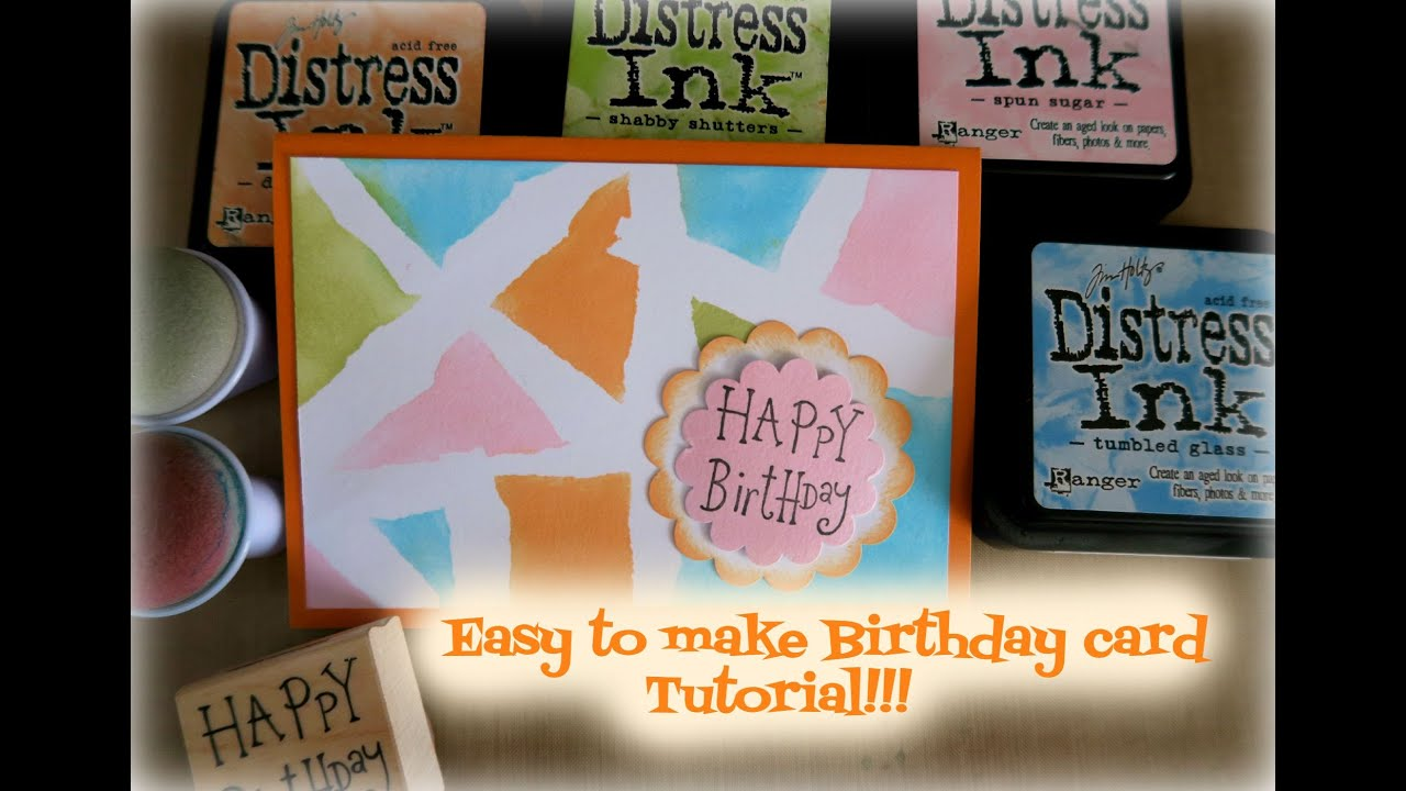 Easy to make Birthday card tutorial YouTube – Easy to Make Birthday Cards