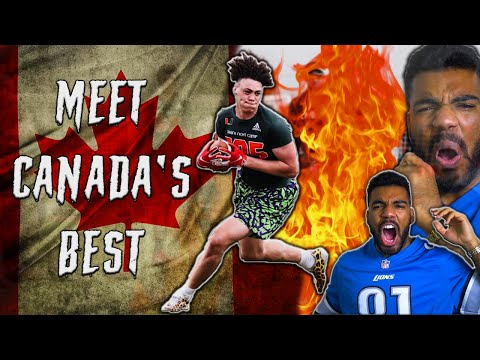The *BEST* CANADIAN High School Football Player Is A *BEAST*