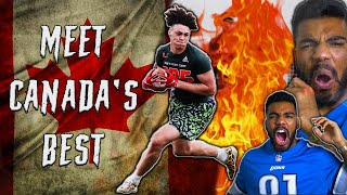 The *BEST* CANADIAN High School Football Player Is A *BEAST* | Sharpe Sports