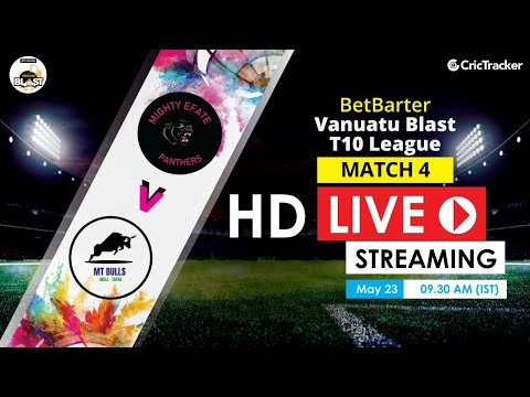 Vanuatu Blast T10 League 2020 Live Streaming: 4th Match Mighty Efate Panthers vs Ifira Sharks