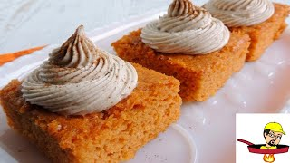 Pumpkin Pie Angel Food Cake - Halloween