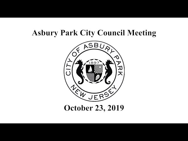 Asbury Park City Council Meeting - October 23, 2019
