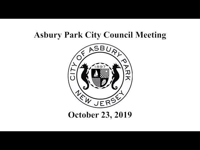 Asbury Park City Council Meeting - October 23, 2019