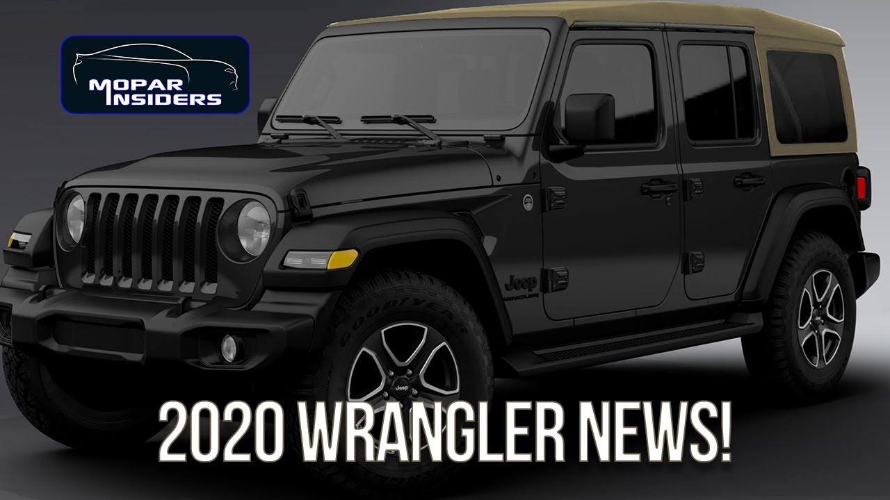 Here S Whats New For The 2020 Jeep Wrangler