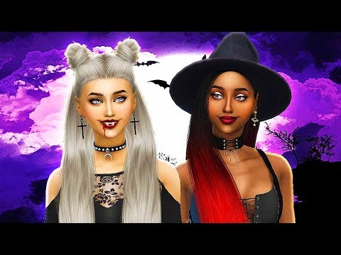 VAMPIRE & WITCH SISTERS ????✨ Sims 4 Supernatural Secrets | Create a Sim